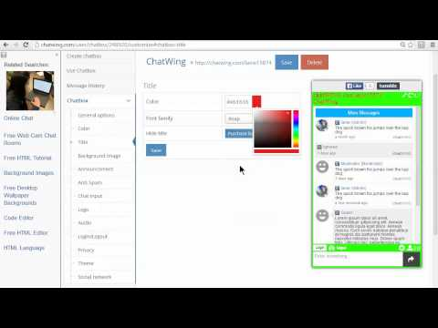 Making Chat Room Software For Any Web Page