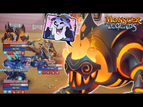 MEPHISTO (LV 130) COMBATES PVP - Monster Legends Review