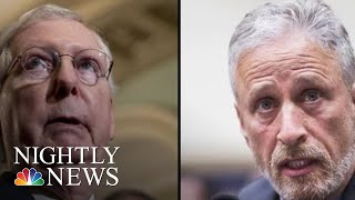 Escalating War Of Words Between Jon Stewart And Mitch McConnell | NBC Nightly News