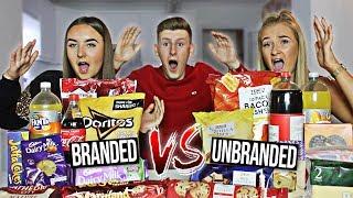 BRANDED VS UNBRANDED FOOD CHALLENGE!! (£100 PRIZE)