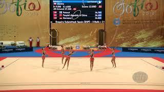 Switzerland (SUI) - 2018 Rhythmic Worlds, Sofia (BUL) - Qualifications 5 Hoops