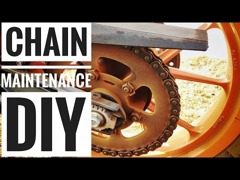 KTM DUKE 390|How to Clean the Chain|DIY