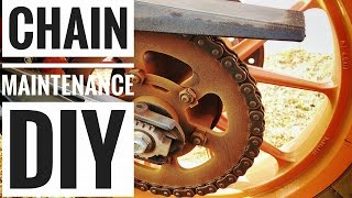 KTM DUKE 390|How to Clean the Chain|DIY