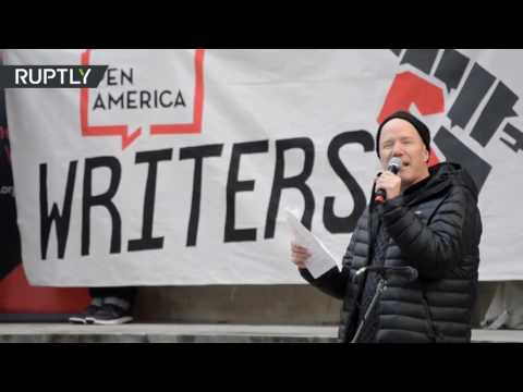 Poets, artists and writers hold literary protest against Trump in NYC