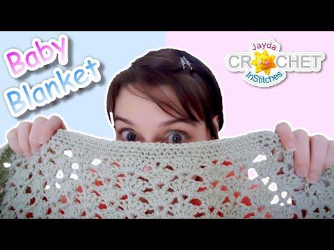 Crochet Baby Blanket - Easy Fan Stitch Pattern