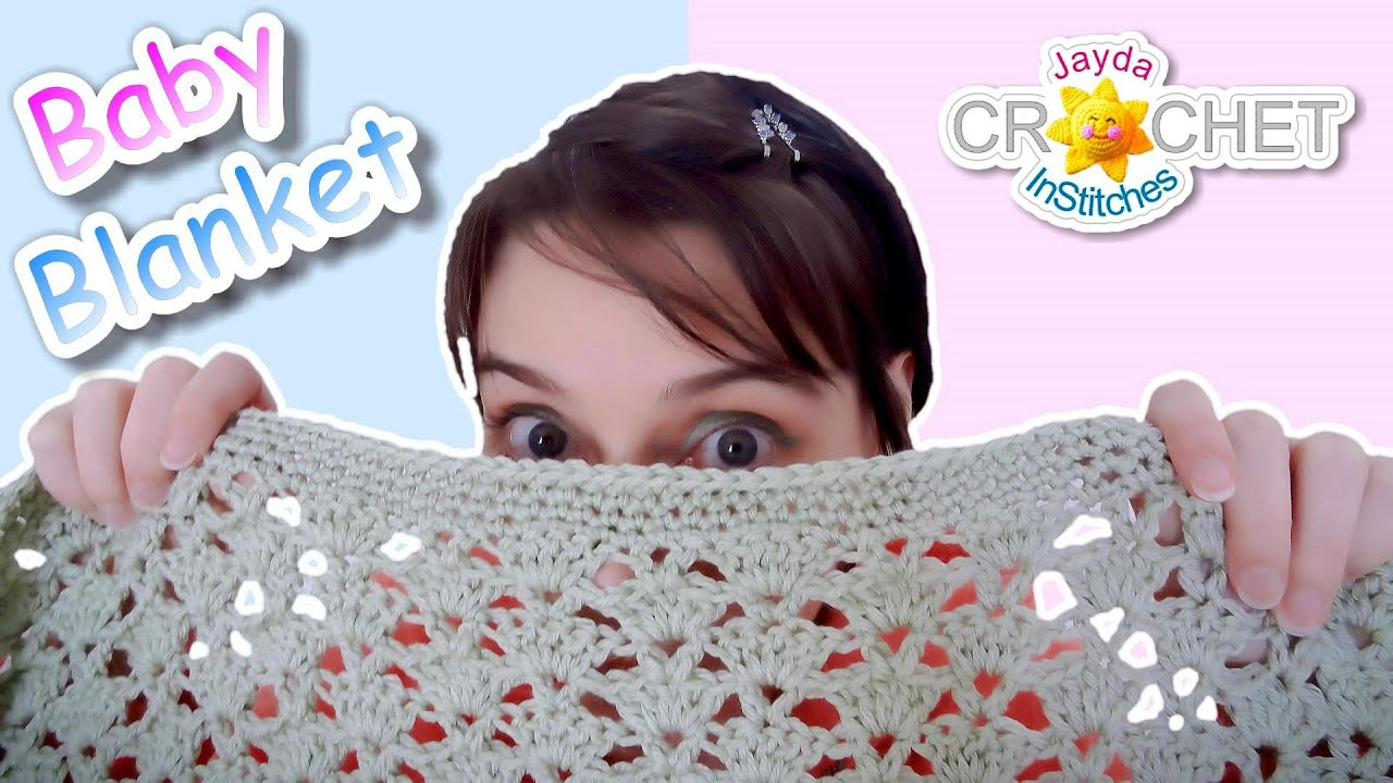 Crochet Baby Blanket Easy Fan Stitch Pattern Youtube