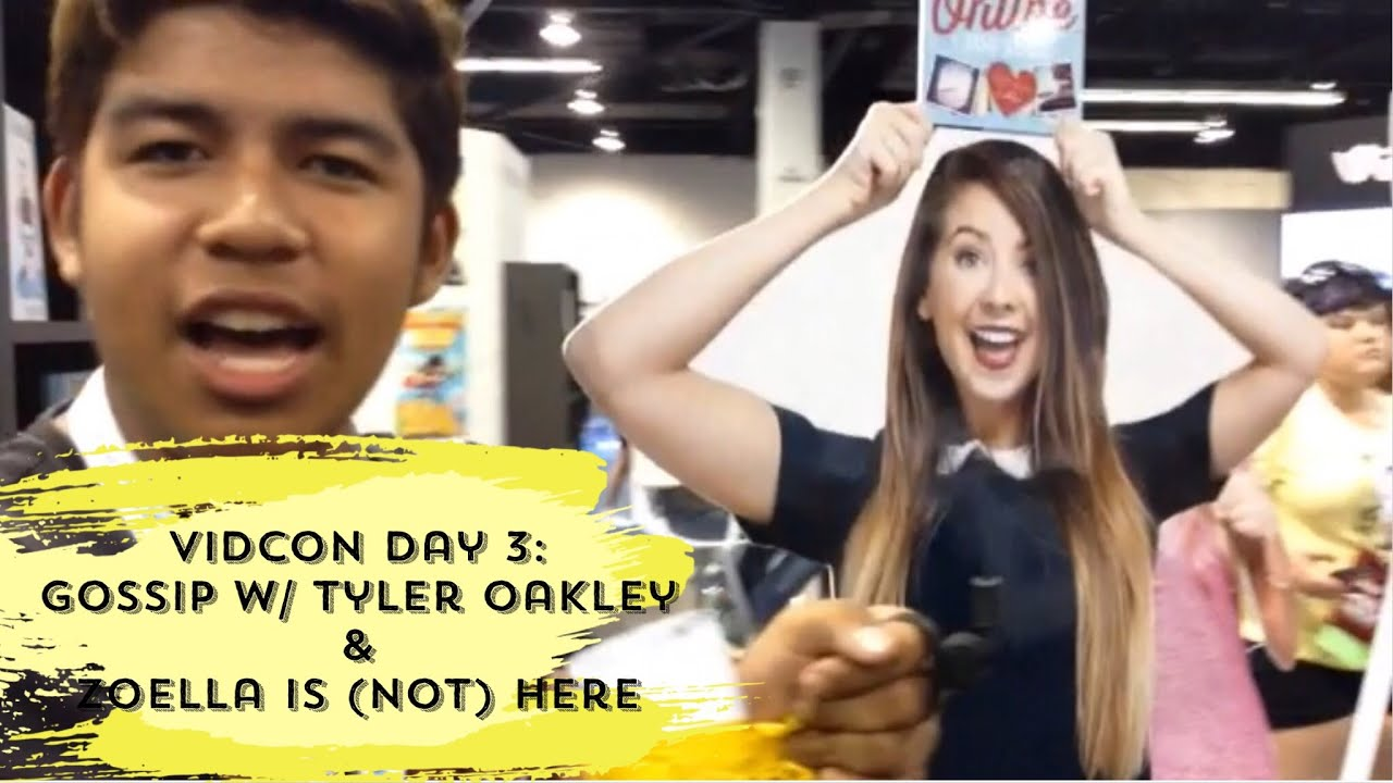 VidCon VLOG // Day 3: Gossip W/Tyler Oakley & Zoella Is
