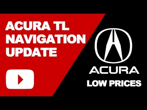 Acura TL Navigation DVD Update 2017: Low Price System Updates