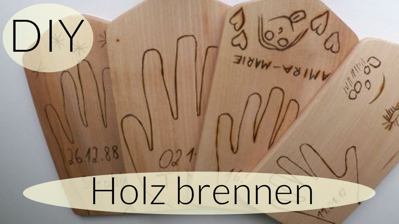 diy holzbrett bearbeiten i holz brennen i do it yourself i. Black Bedroom Furniture Sets. Home Design Ideas