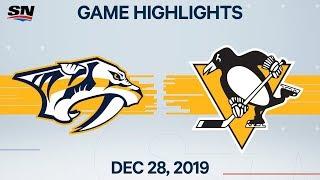 NHL Highlights   Predators vs. Penguins - Dec. 28, 2019