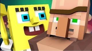 """Спанч Боб в Minecraft. 1 сезон 4 серия """"Знакомство"""""""