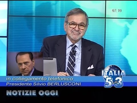 silvio berlusconi in diretta telefonica a notizie oggi