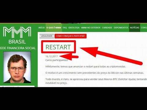 URGENTE - RESTART EM BITCOIN NA MMM BRASIL - E AGORA?????