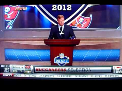 2012 NFL Draft: Mark Barron 1st Round 7th Pick
