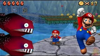 Super Mario 64 DS HD 150 Stars COURSE 3: Jolly Roger Bay