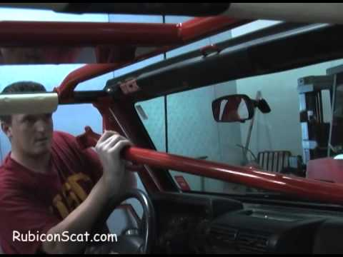 Rock Hard Roll Cage Install On 2006 Tj Youtube