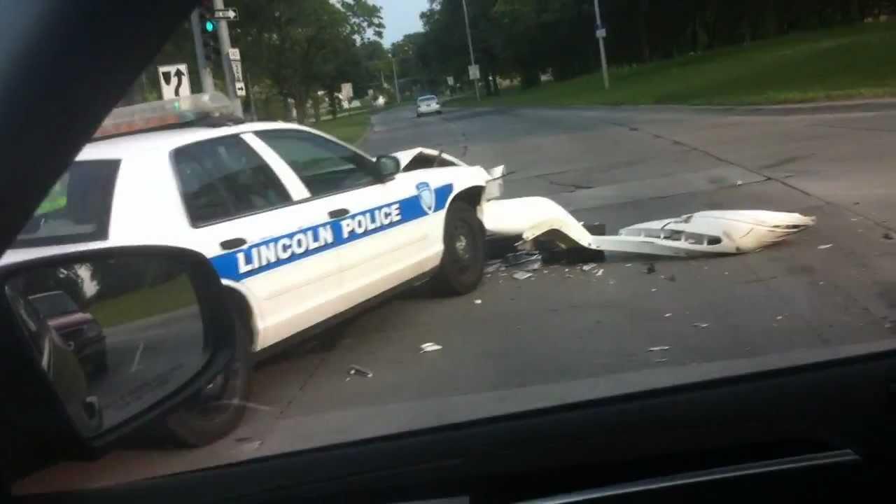 Lincoln Nebraska Police Car Wreck Youtube