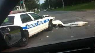 Lincoln Nebraska Police Car Wreck