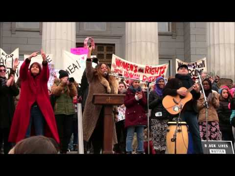 Dwight and Nicole perform at the Women's March in Montpelier Vermont 1/21/2017