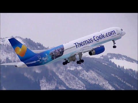 1 HOUR | Winter Planespotting at Salzburg Airport | 2014 | ✈