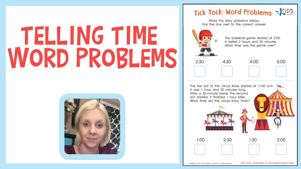 medium resolution of Telling Time Word Problems   Math   1st Grade - YouTube