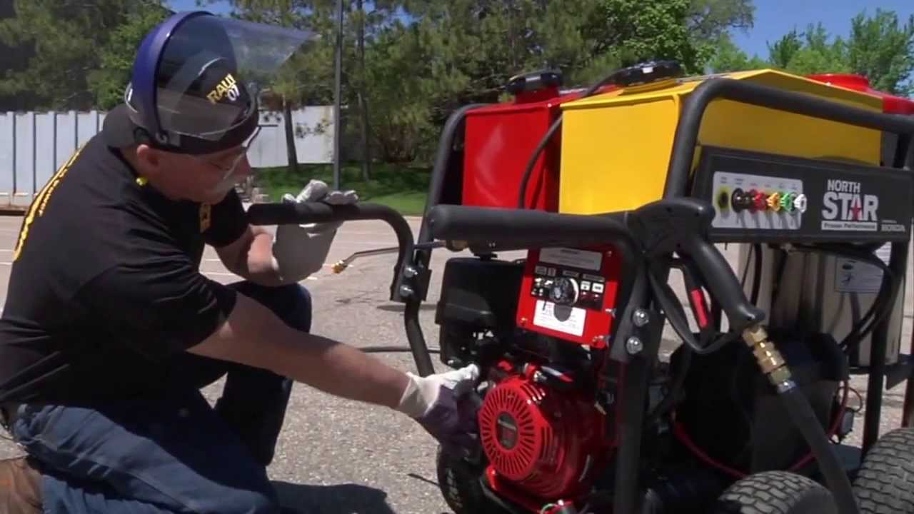 instructional for northstar gas powered wet steam hot water pressure washer sku 157310 youtube [ 1280 x 720 Pixel ]