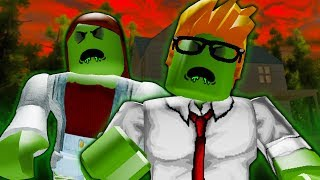 His Parents Turned Into Zombies! A Sad Roblox Zombie Outbreak Movie