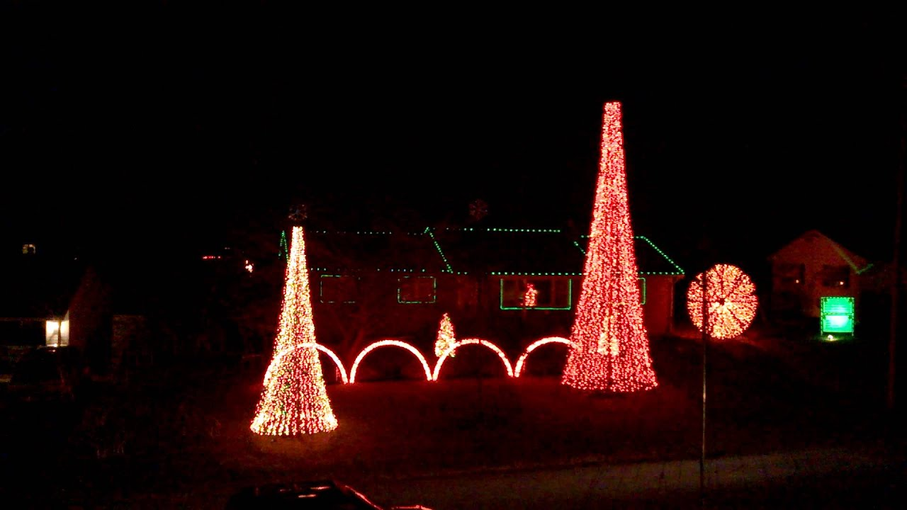 Christmas Lights To Music Best Spiral Tree Ever Hagerstown