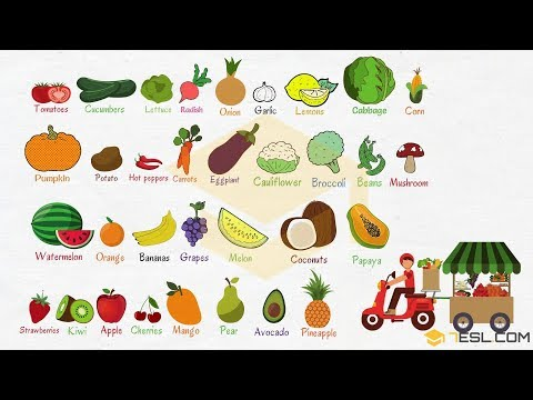 Fruits and Vegetables: List, Names & Pictures - 7 E S L