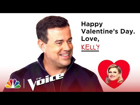 Carson Reacts to Valentine Mad Libs from the Coaches - The Voice 2019 (Digital Exclusive)