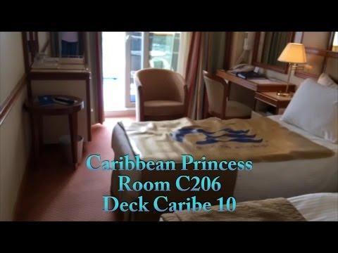 Caribbean Princess - Room C206 Balcony Tour
