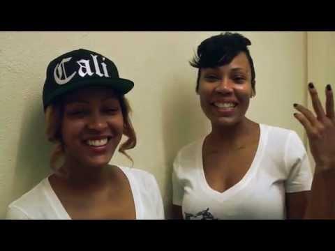 Celebrity Sisters Meagan & La'Myia Good visit Centennial High School Compton, CA