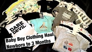 Baby Boy Clothing Haul Newborn to 3 Month - SHYLA INEZ