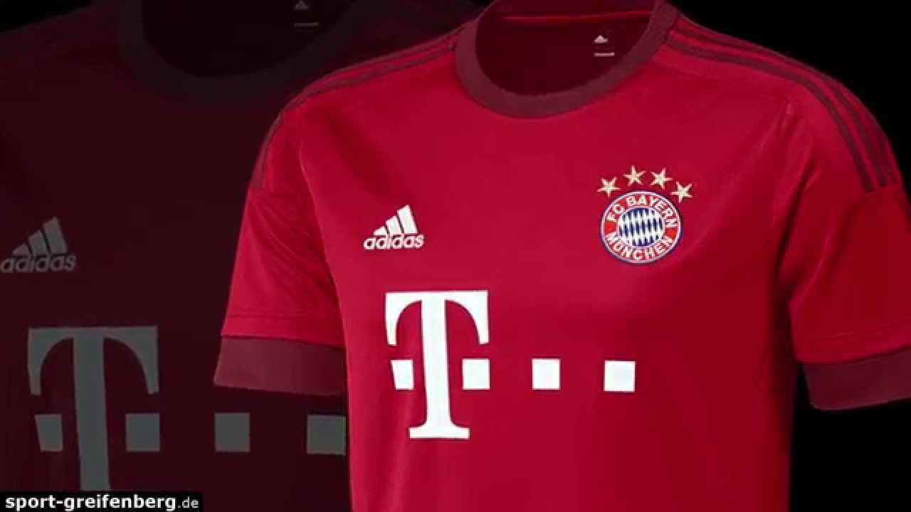 fc bayern trikot 2015 2016 home heimtrikot youtube. Black Bedroom Furniture Sets. Home Design Ideas