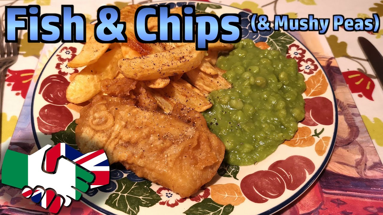 Making Fish Chips Served With Mushy Peas Youtube