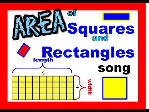AREA song for rectangles and squares