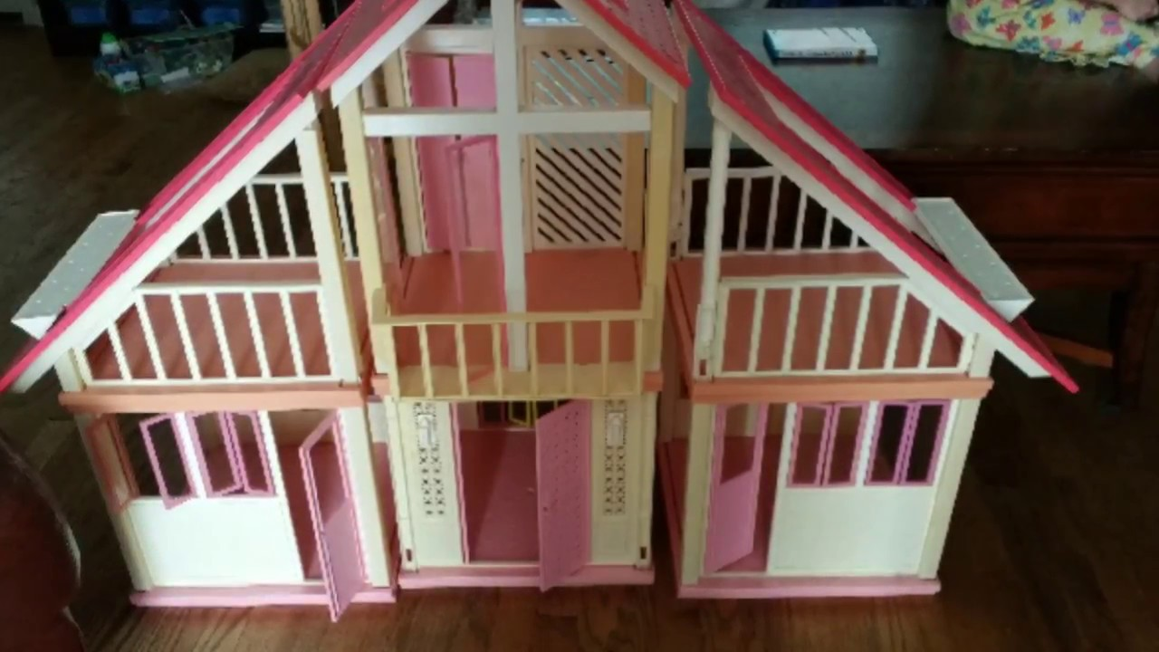 Refurbished And Modified Vintage A Frame Barbie Dreamhouse