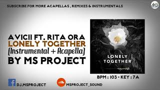 Avicii - Lonely Together ft. Rita Ora (Official Instrumental + Acapella)