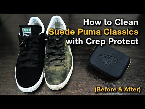 How to Clean Suede Puma Classics with Crep Protect