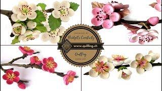 Bridgit's Quilling Birnen-, Kirschen, Pflaumen- und Mandelblüten (2. Teil)