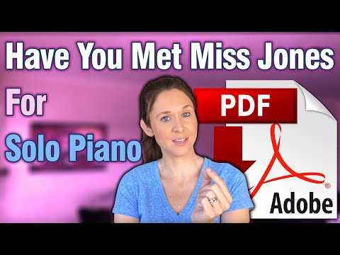 Have You Met Miss Jones For Solo Piano (with moving inner voices)