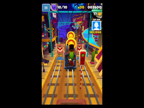 Stumble upon 4 barriers in one run - Subway Surfers