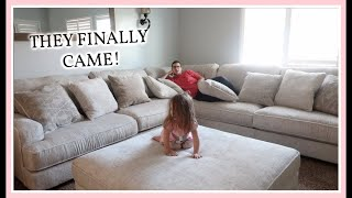 OUR NEW STYLE COUCHES ARE IN | VLOG | RAWCLIFFE SECTIONAL | ASHLEYS FURNITURE