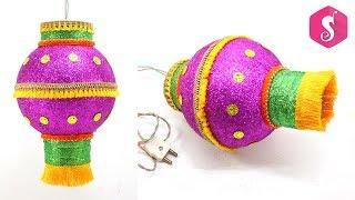 Plastic Ball Diwali Lamp/Lantern | Hanging Akash Kandil  idea | Sonali