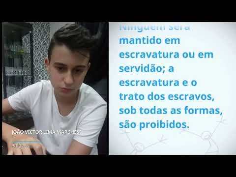 João Victor Lima Marchesi, Brazil, reading article 4 of the Universal Declaration of Human Rights