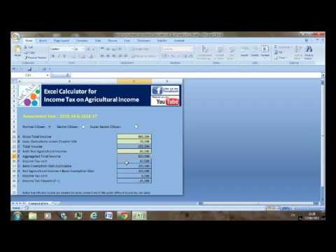 Excel Agricultural Income Tax Calculator - YouTube - Income Tax Calculator