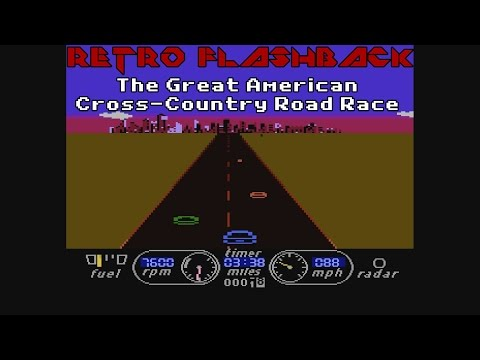 The Great American Cross-Country Road Race (Atari 8-Bit, Commodore 64, Apple II) - Retro Flashback