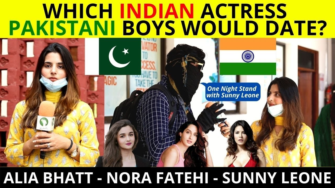Which INDIAN Actress Pakistani Boys Would Date? l Public Reaction