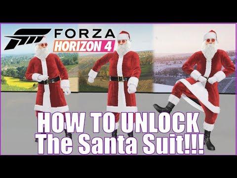 Forza Horizon 4 How to Unlock the Santa Suit! Tips and Tricks thumbnail