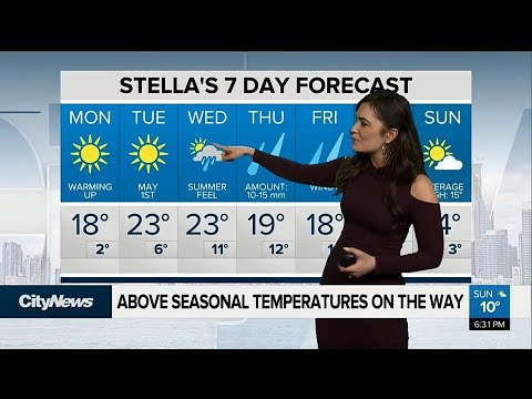 Summer-like temperatures on the way